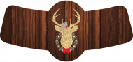 Holiday Bottle Neck Label - Gold Glitter Deer