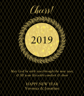 Holiday Champagne Label - New Years Eve Gold
