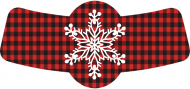 Holiday Bottle Neck Label - Snowflake Plaid