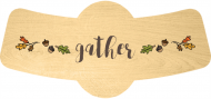 Holiday Bottle Neck Label - Gather