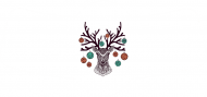 Holiday Bottle Neck Label - Christmas Deer