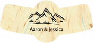 Wedding Bottle Neck Label - Mountain Adventure