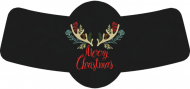 Holiday Bottle Neck Label - Christmas Antlers