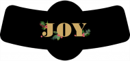 Holiday Bottle Neck Label - Christmas Family Joy
