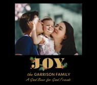 Holiday Beer Label - Christmas Family Joy