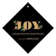 Holiday Wine Hang Tag - Christmas Family Joy