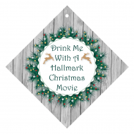 Holiday Wine Hang Tag - Drink With Christmas Movie