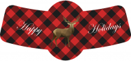 Holiday Bottle Neck Label - Buffalo Plaid