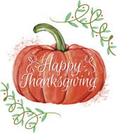 Holiday Champagne Label - Thanksgiving Pumpkin