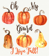 Expressions Wine Label - Oh My Gourd