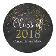 Graduations Label - Chalkboard Glitter Graduation