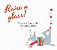 Holiday Beer Label - Raise a Glass