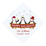 Holiday Wine Hang Tag - Penguin Greetings