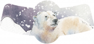Holiday Bottle Neck Label - Polar Bear Dreams