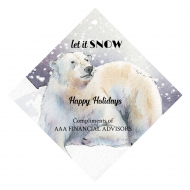 Holiday Wine Hang Tag - Polar Bear Dreams