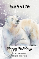 Holiday Large Wine Label - Polar Bear Dreams