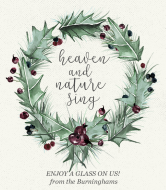 Holiday Wine Label - Winter Holly