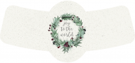 Bottle Neck Label - Winter Holly