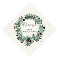 Holiday Wine Hang Tag - Winter Holly