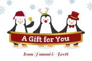 Holiday Gift Tag - Penguin Greetings