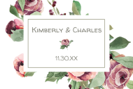 Wedding Mini Champagne Label - Country Roses