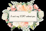 Wedding Mini Wine Label - Bridal Floral Frame