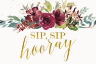 Wedding Mini Champagne Label - Sip Sip Hooray Bridal