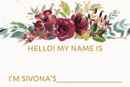 Wedding Name Label - Sip Sip Hooray Bridal