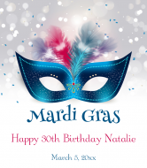 Celebration Wine Label - Mardi Gras