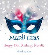 Celebration Wine Label - Mardi Gras