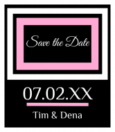 Wedding Wine Label - Save The Date