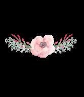 Wedding Wine Label - Spring Flower Wedding
