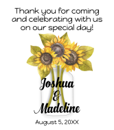 Wedding Wine Label - Sunflower Mason Jar