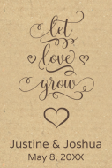 Wedding Mini Wine Label - Let Love Grow