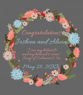 Wedding Wine Label - Floral Wedding