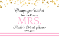 Wedding Mini Champagne Label - Champagne Wishes