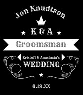 Wedding Liquor Label - Groomsman's Gift