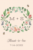 Wedding Food Label - Meant to Bee