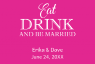 Wedding Mini Liquor Label - Be Married