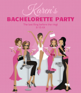Wedding Wine Label - Party Girls
