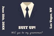 Wedding Mini Liquor Label - Suit Up