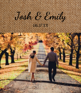 Wedding Wine Label - Burlap Photo