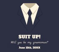 Wedding Beer Label - Suit Up
