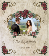 Wedding Wine Label - Rose Garden