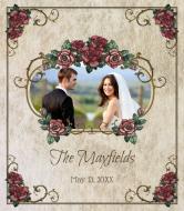 Wedding Wine Label - Rose Garden