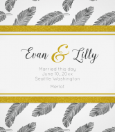 Wedding Wine Label - Fine Feathers
