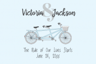 Wedding Mini Wine Label - Bicycle for Two