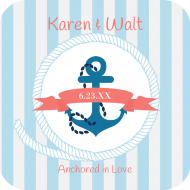 Wedding Drink Coaster - Nautical Wedding