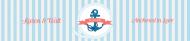 Wedding Water Bottle Label - Nautical Wedding