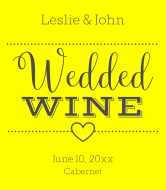 Wedding Wine Label - In Love